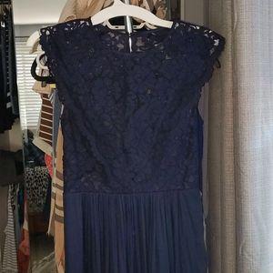 H&M size 6 maxi Navy formal dress